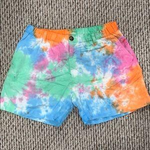 Chubbies tie dye shorts